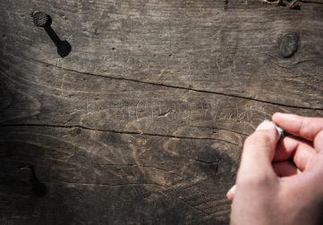 puunkuoreen kirjoittaminen
