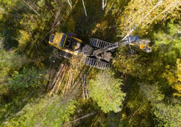 Suomen MetsätKuntoon työkone työssään